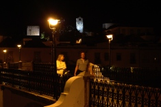 Two stranger walking in the night, Tavira