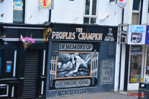 Mural of The Peoples Champion in Belfast