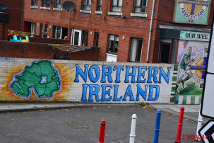 Mural of the Northern Ireland in Belfast