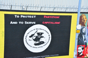 To protect and to serve mural Belfast