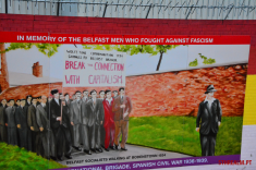 Against Facism mural Belfast