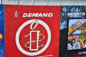 Demand mural Belfast