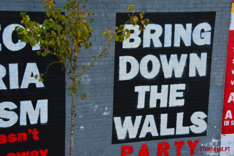Bring down the walls mural Belfast