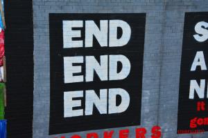 End mural in Belfast