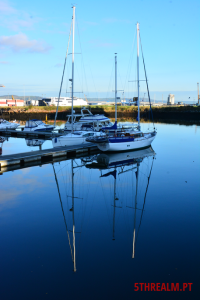 Two boats reflection Belfast
