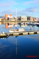 Boat reflection Belfast