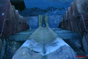Detail of the dry dock