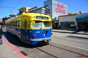 Yellow blue tram